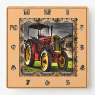 Antique Tractor Clock