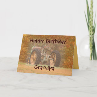 Antique Tractor- customize any occasion Card