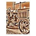 Antique Tractor Farm Equipment Classic Sepia Invitations