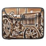 Antique Tractor Farm Equipment Classic Sepia Sleeve For MacBooks