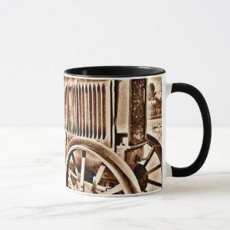 Antique Tractor Farm Equipment Classic Sepia Mug