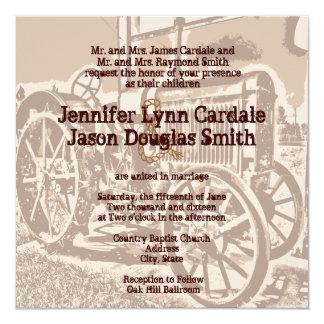 Antique Tractor Farm Wedding Invitations