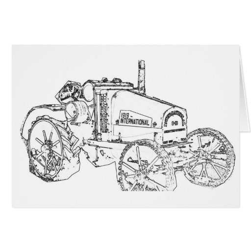ANTIQUE TRACTOR GREETING CARDS