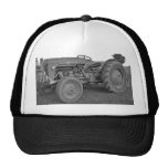 Antique Tractor in Black and White Cap Trucker Hat