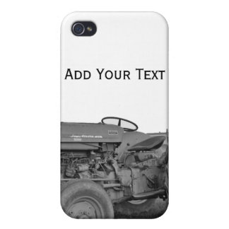 Antique Tractor in Black and White i Case For iPhone 4