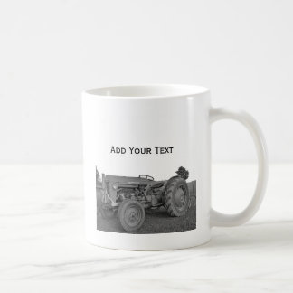 Antique Tractor in Black and White Mug