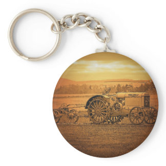 Antique Tractor Keychain