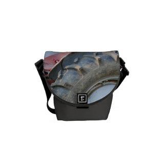antique tractor messenger bag