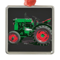ANTIQUE TRACTOR METAL ORNAMENT