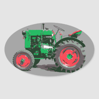 ANTIQUE TRACTOR OVAL STICKER
