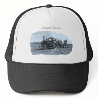Antique Tractor Plowing Trucker Hat