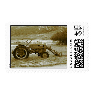 Antique Tractor Postage