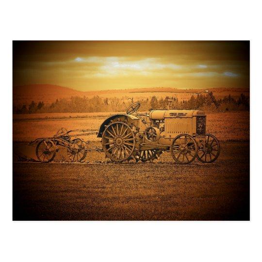 Antique Tractor Postcard