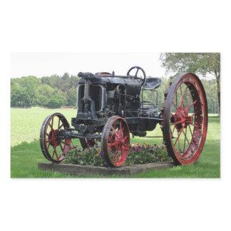 Antique Tractor Rectangular Sticker