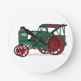 Antique Tractor Round Clock