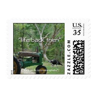 antique tractor & turkey Postcard Stamp- customize Postage