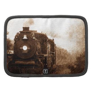 Antique Train On The Rails Folio Planner