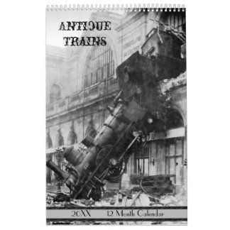 Antique Trains 2018 Calendar