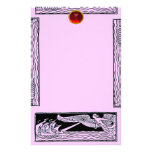 ANTIQUE TRAVEL RUBY , pink Stationery
