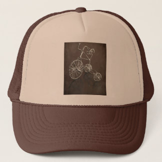 Antique tricycle. trucker hat