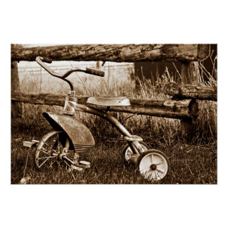 Antique Trike Poster