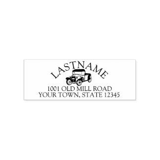 Antique Truck Address Self-inking Stamp