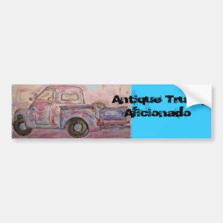 Antique Truck Aficionado Car Bumper Sticker