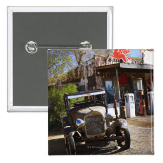 Antique truck at general store in the American Pinback Button