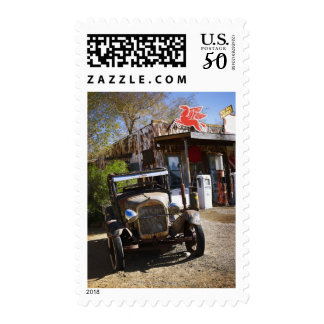 Antique truck at general store in the American Postage
