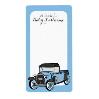 Antique Truck Baby Book Tags