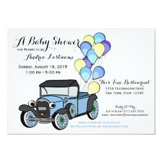 Antique Truck Baby Shower Custom Announcement