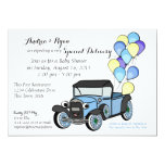 Antique Truck Baby Shower 5x7 Paper Invitation Card