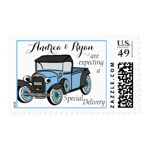 Antique Truck Baby Shower Stamps