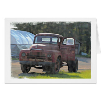 Antique Truck Birthday Card