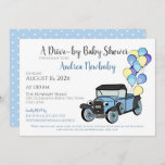Antique Truck Drive By Baby Shower Invitation