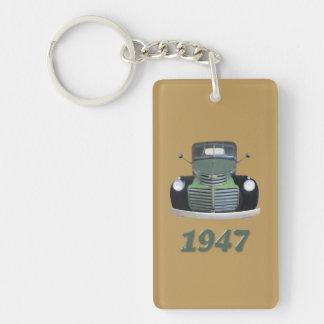 Antique Truck Keyrings Single-Sided Rectangular Acrylic Keychain