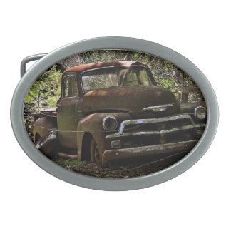 Antique Truck Oval Belt Buckle