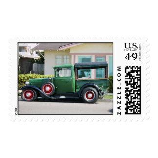 antique truck postage stamp