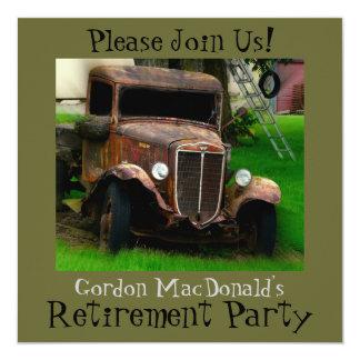 Antique Truck Retirement Party Invite