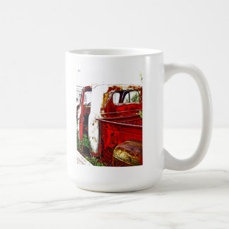 Antique truck scene coffee mug