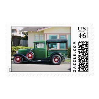 antique truck stamp