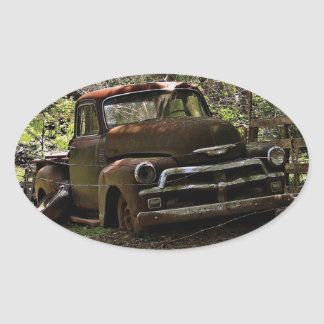 Antique Truck Oval Stickers