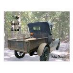 antique truck & still postcard- customize