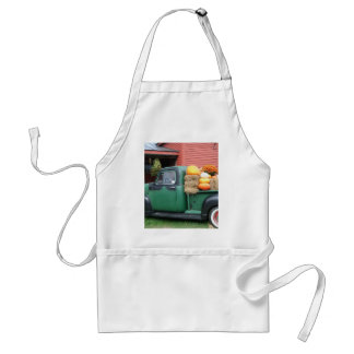 Antique Truck with fall harvest Adult Apron