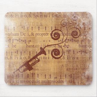 Antique Trumpet Mouse Pad