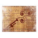 Antique Trumpet Postcard