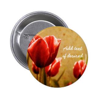 Antique Tulips Button Flair