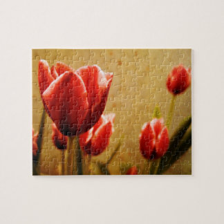 Antique Tulips Jigsaw Puzzle