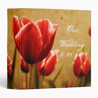 Antique Tulips Wedding Photo Album Binder