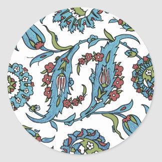 Antique Turkish Floral Composision Classic Round Sticker